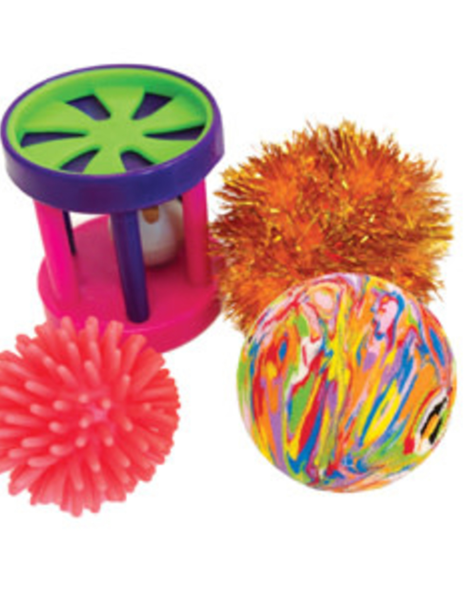 Hagen Furry Frolics Assorted Toys 4 Pack