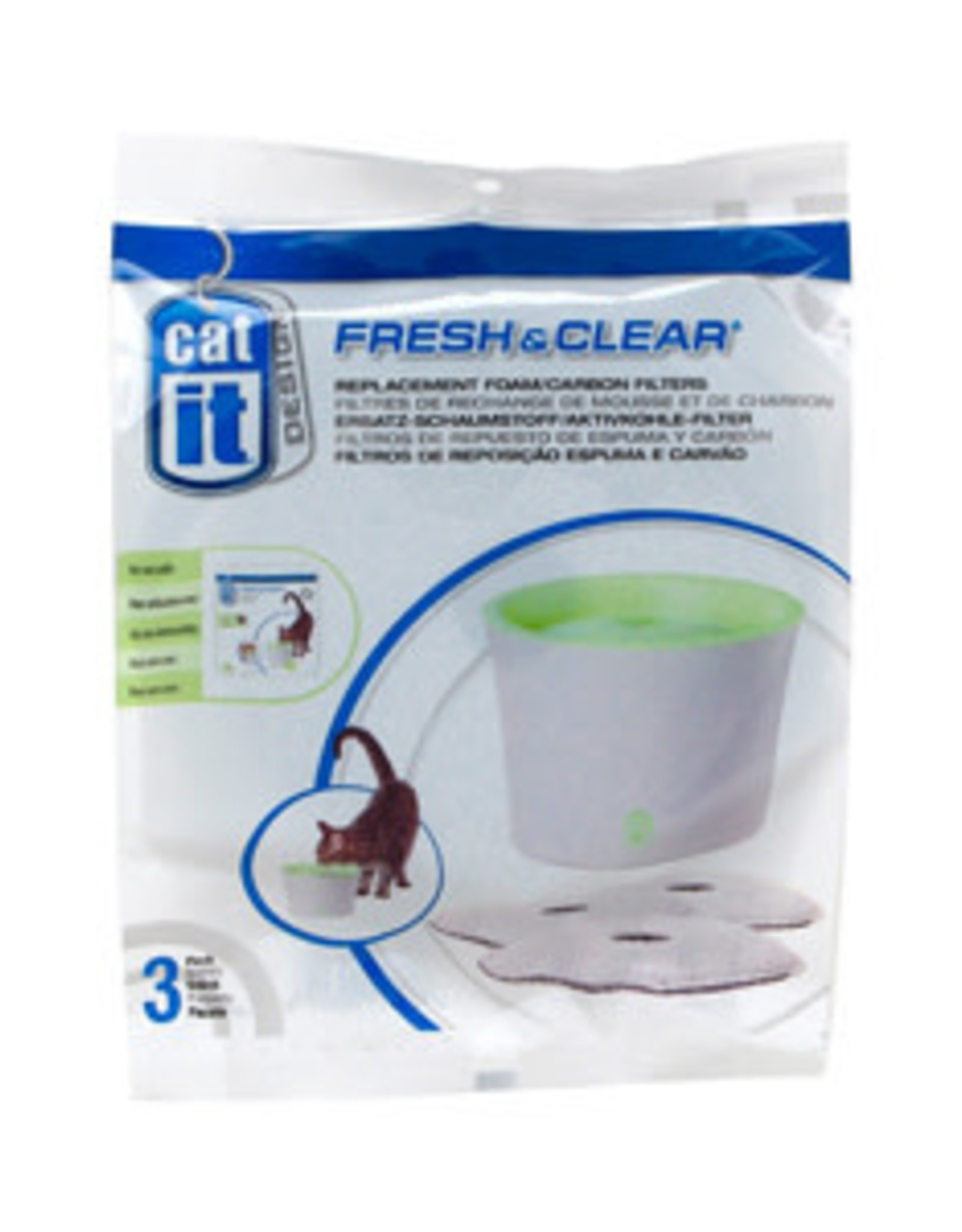 Hagen Catit Foam Cartridge Filter Refill 3PK