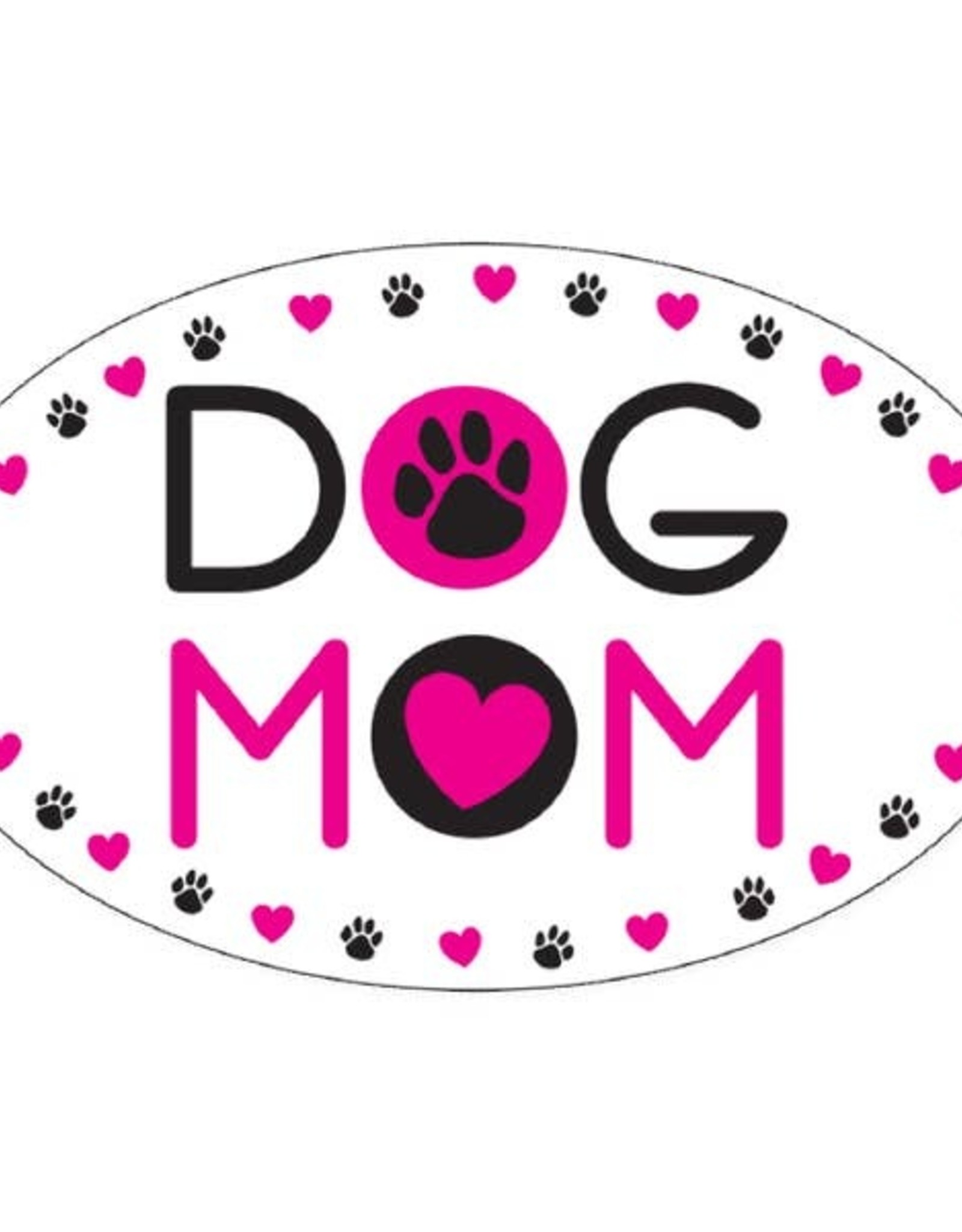 Dog Speak Car Magnet: Dog Mom