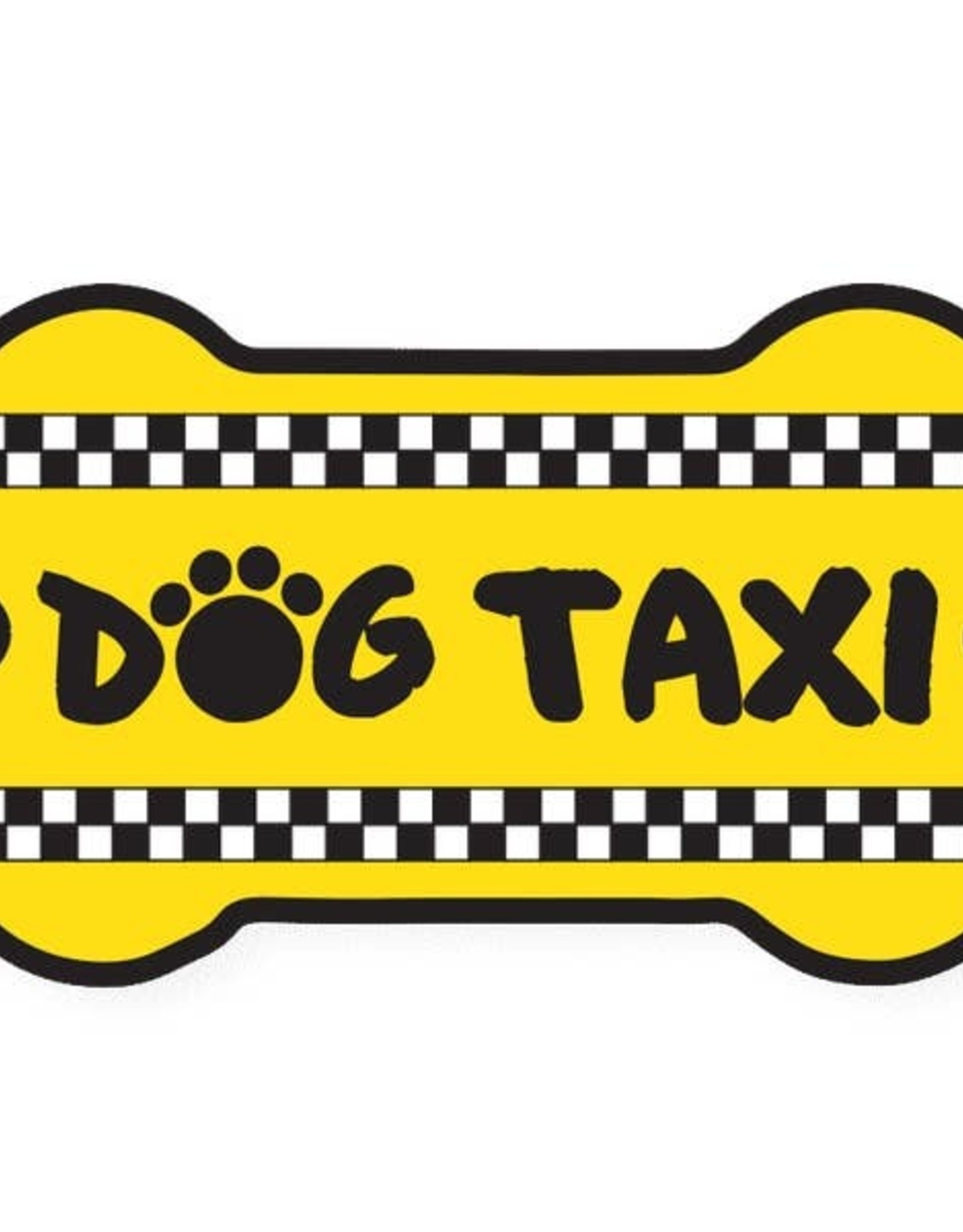 Dog Speak Car Magnet: Dog Taxi