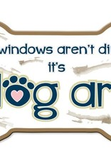 Dog Speak Car Magnet: My windows aren't dirty...it's dog art!