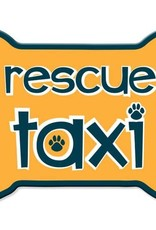 Dog Speak Car Magnet: Rescue Taxi