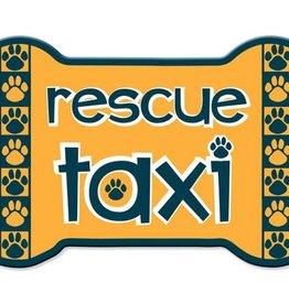 Dog Speak Car Magnet: Rescue Taxi