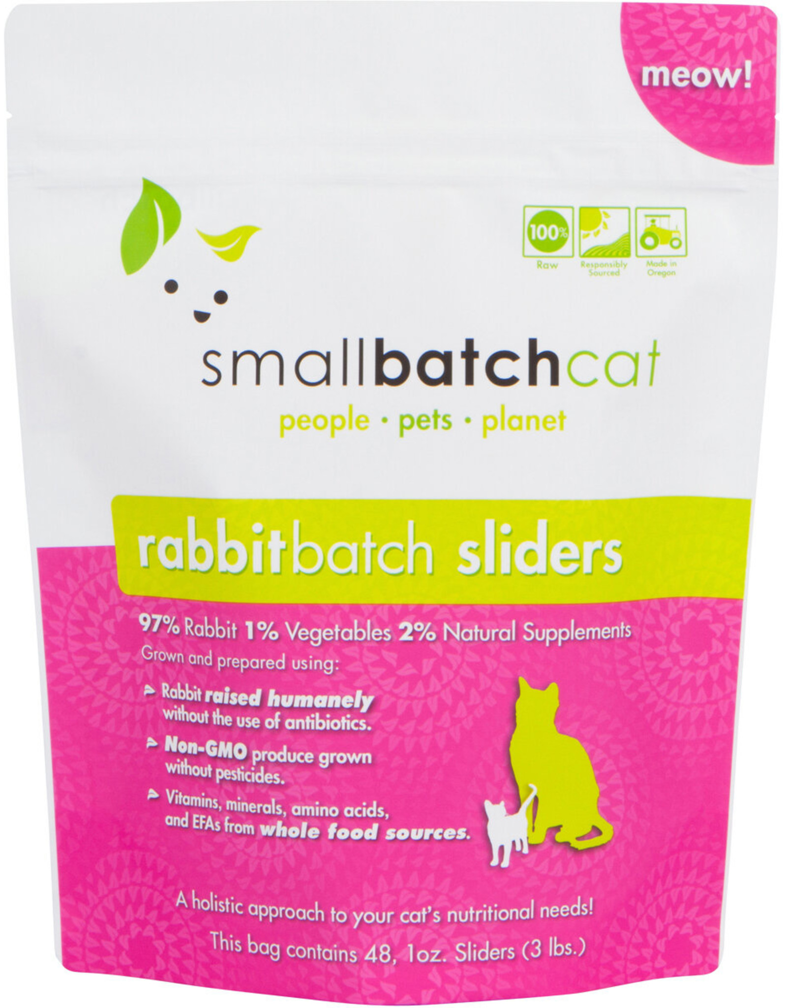 Smallbatch Smallbatch Cat Rabbit Sliders 3lb