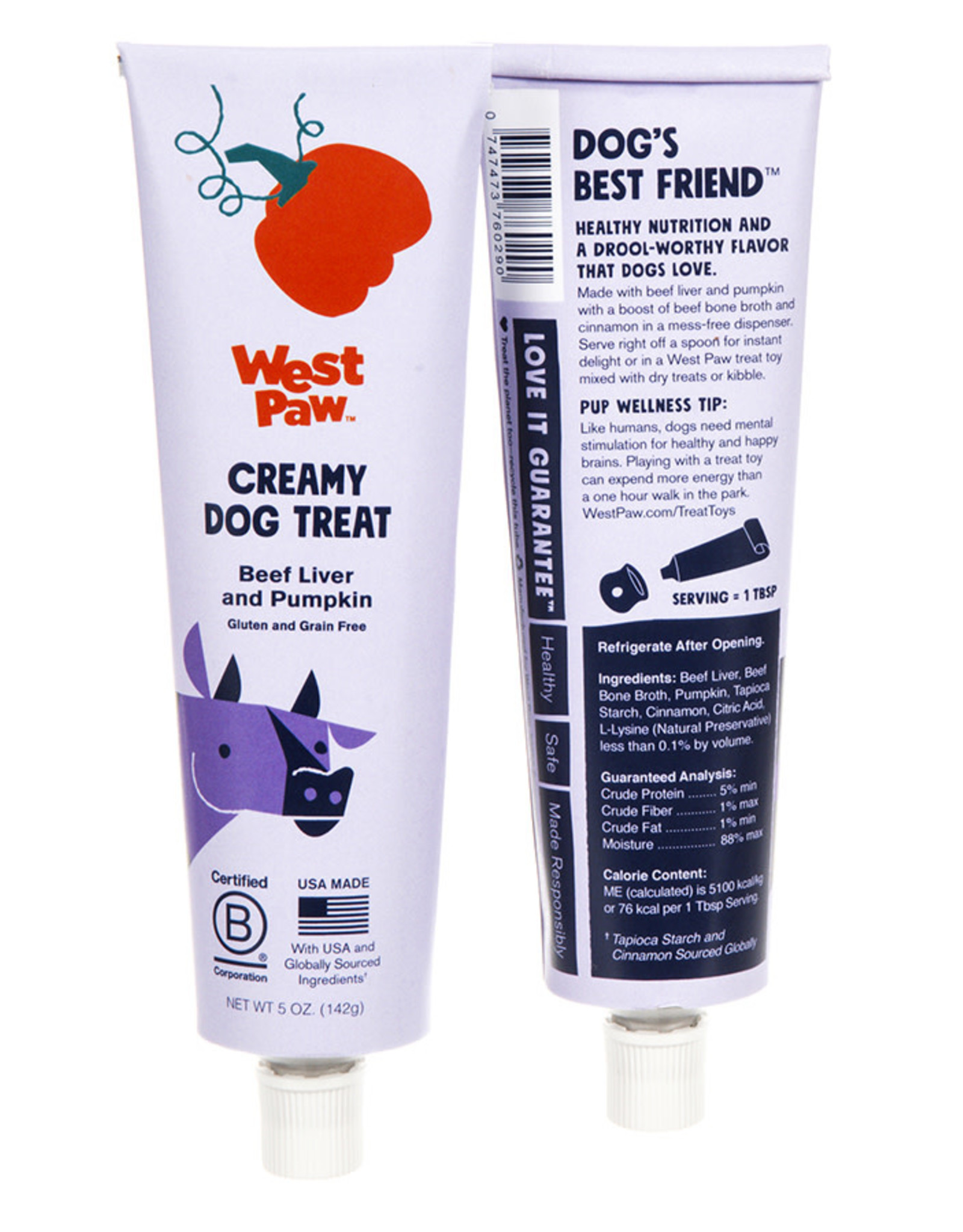 West Paw West Paw Creamy Beef Liver and Pumpkin 5oz