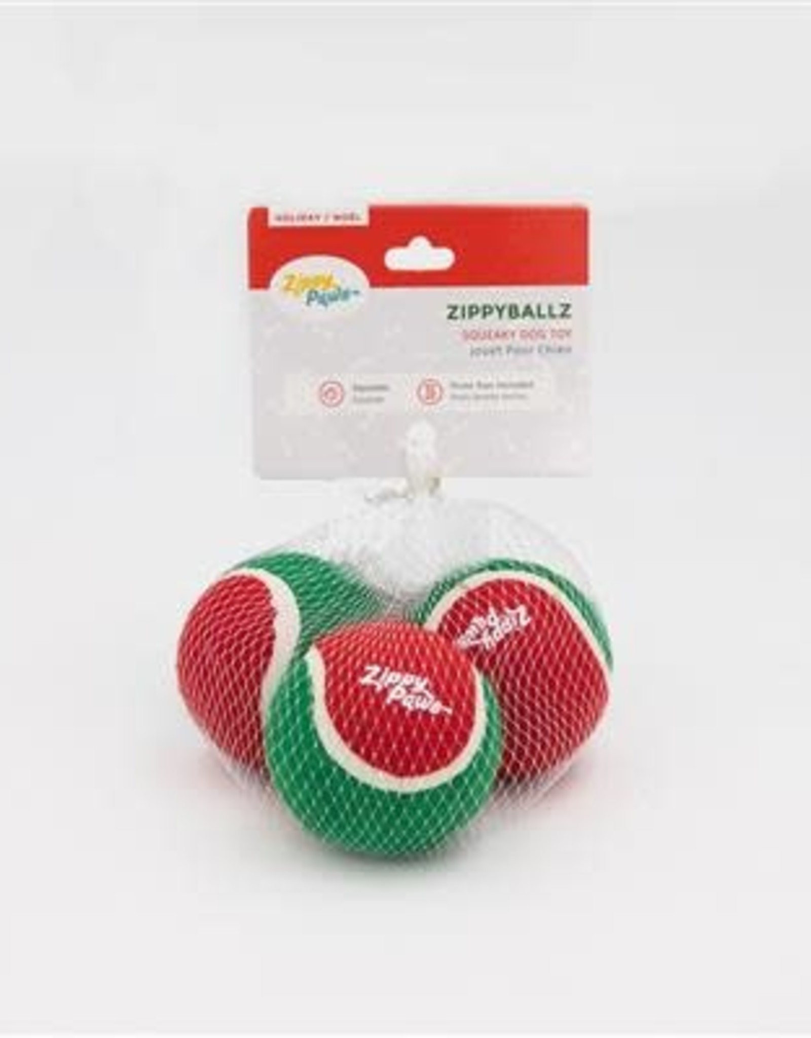 ZippyPaws ZippyPaws Holiday Balls  - 3 Pack