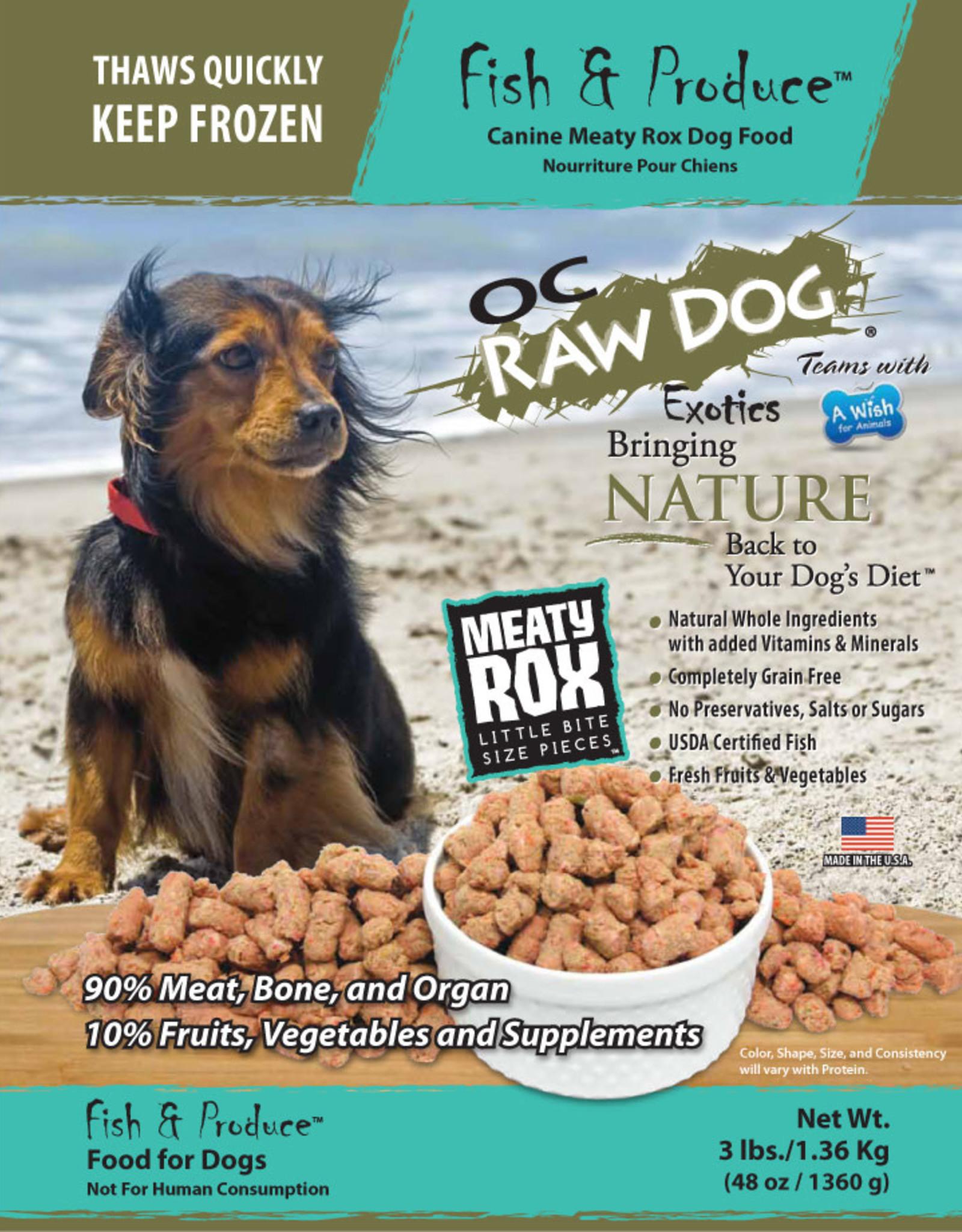 OC Raw Dog OC Raw Dog Fish & Produce