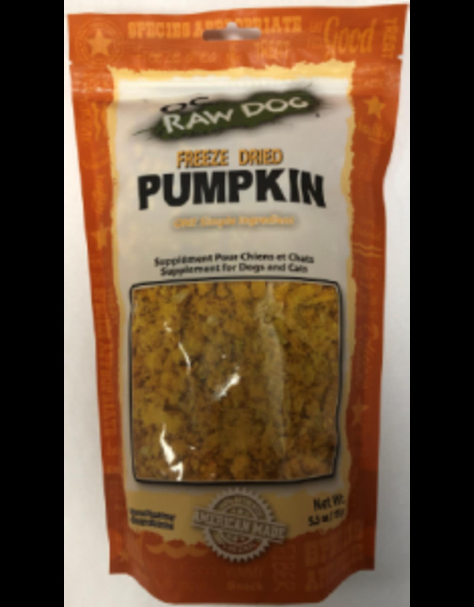 OC Raw Dog OC Raw Dog Freeze Dried Pumpkin 5.5oz