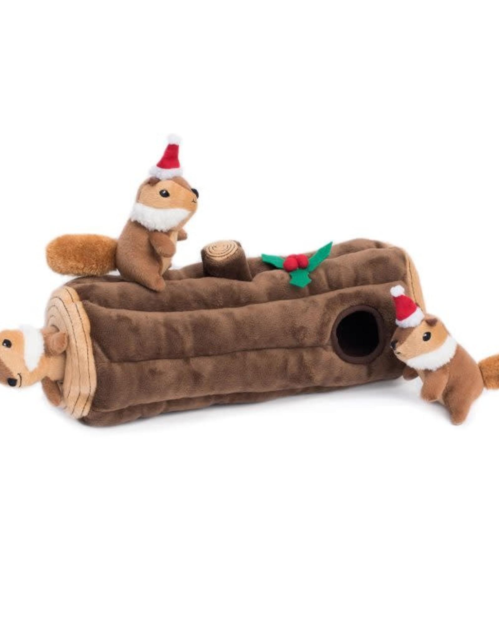 ZippyPaws ZippyPaws Holiday Burrow - Yule Log