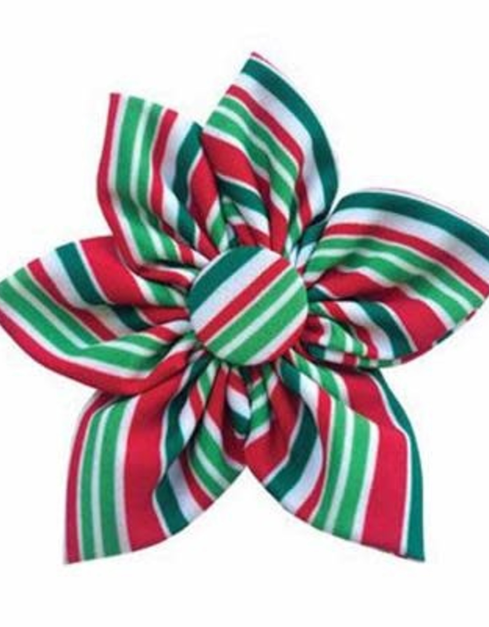 Holiday Candy Cane Pinwheel Collar Attachment