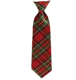 Red Plaid Long Tie