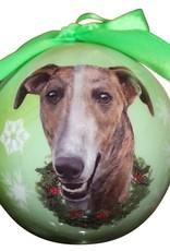 Greyhound Brindle Ornament
