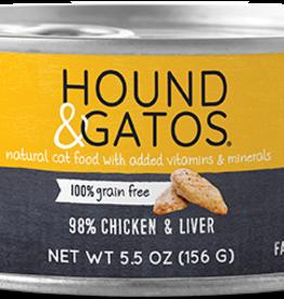 Hound & Gatos Hound & Gatos 98% Chicken & Liver Recipe Cat