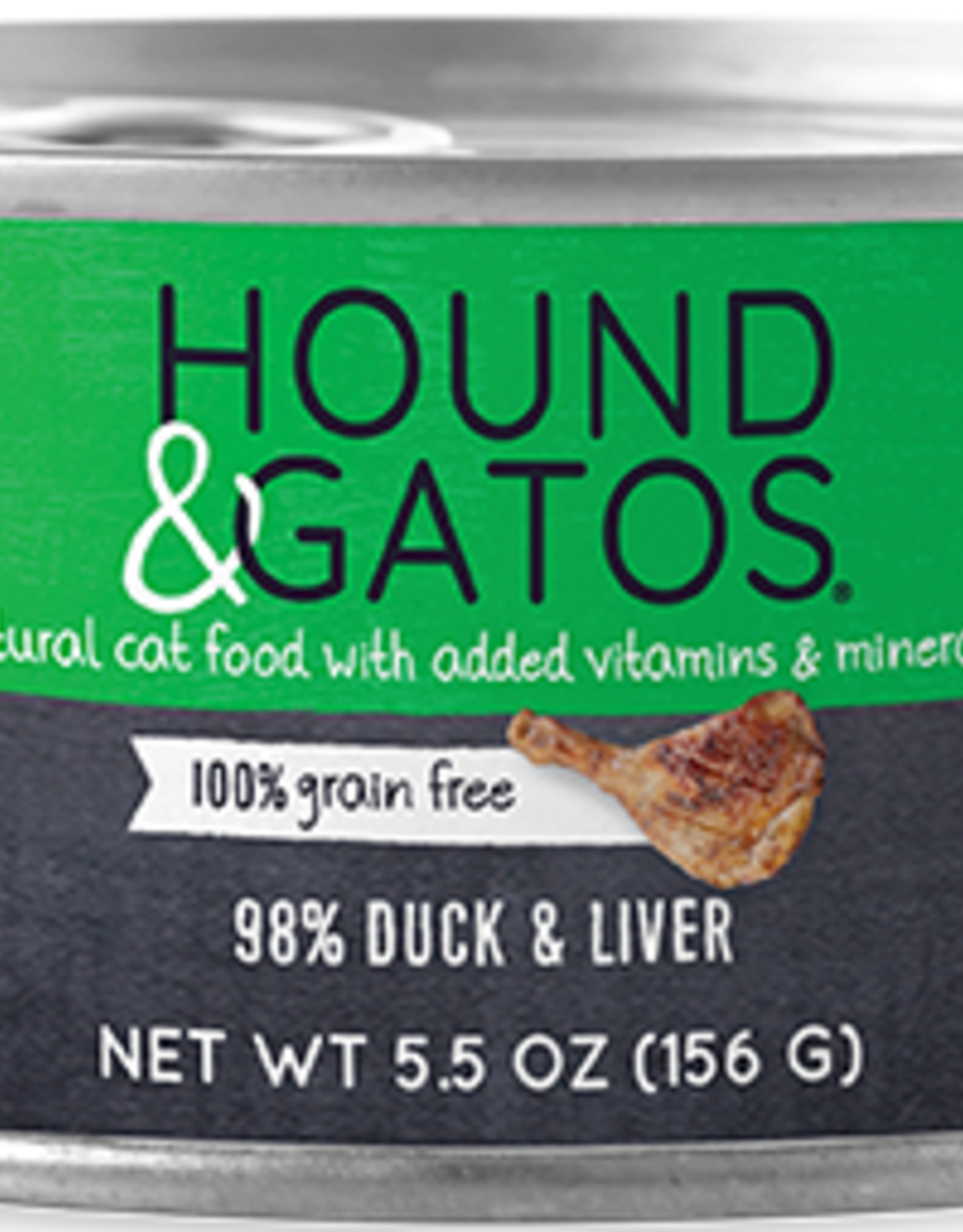 Hound & Gatos Hound & Gatos 98% Duck & Liver Recipe Cat