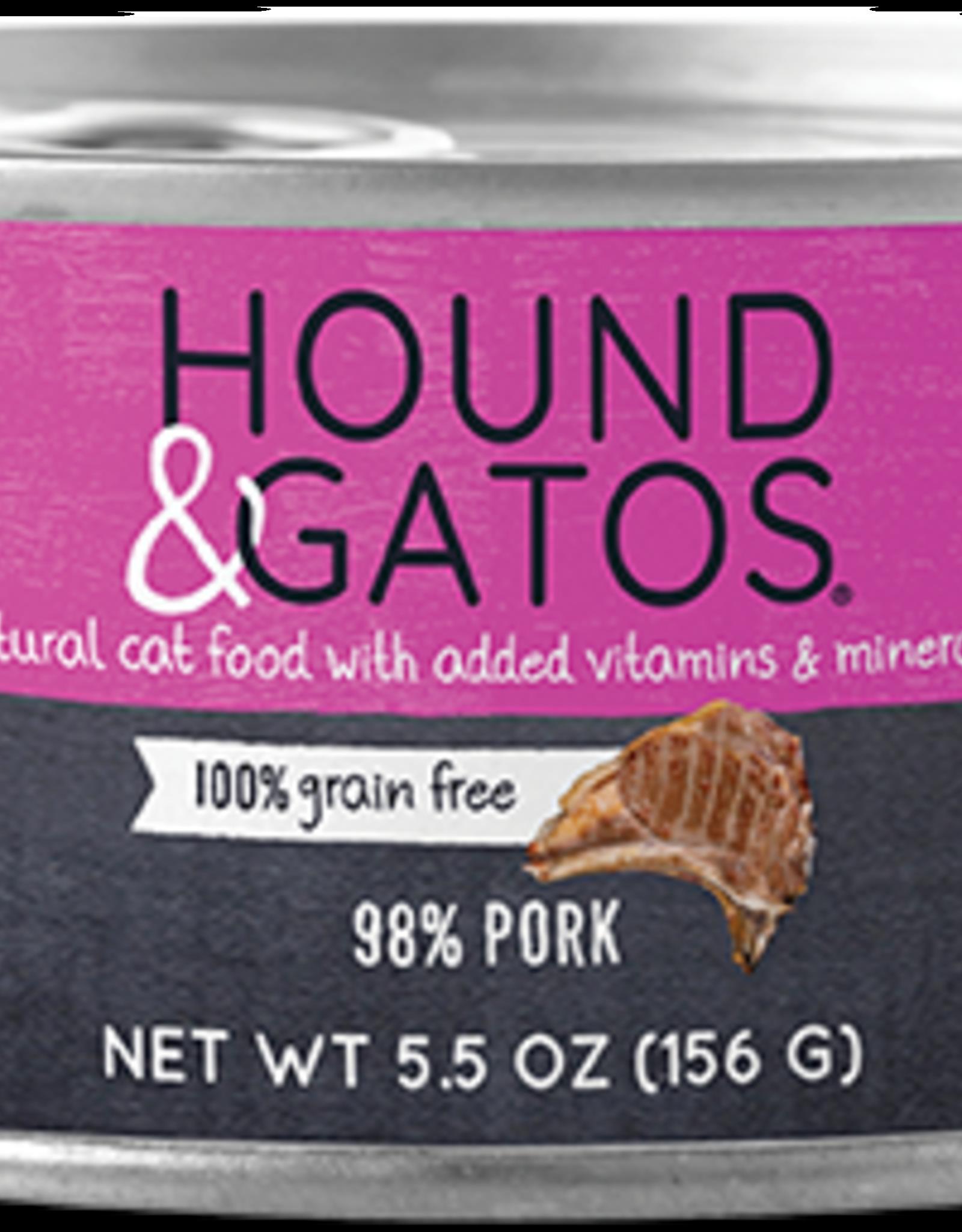 Hound & Gatos Hound & Gatos 98% Pork Recipe Cat