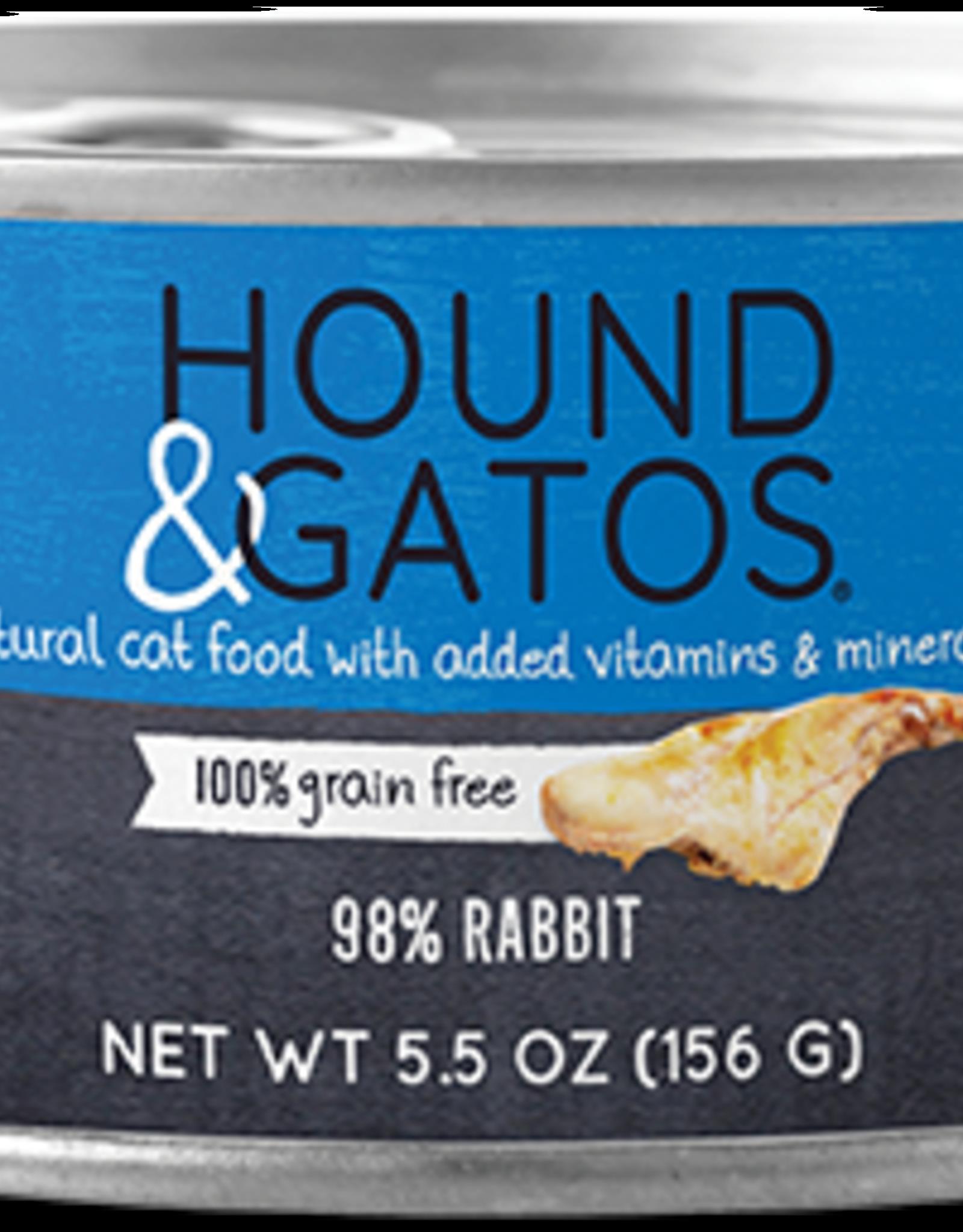 Hound & Gatos Hound & Gatos 98% Rabbit Recipe Cat