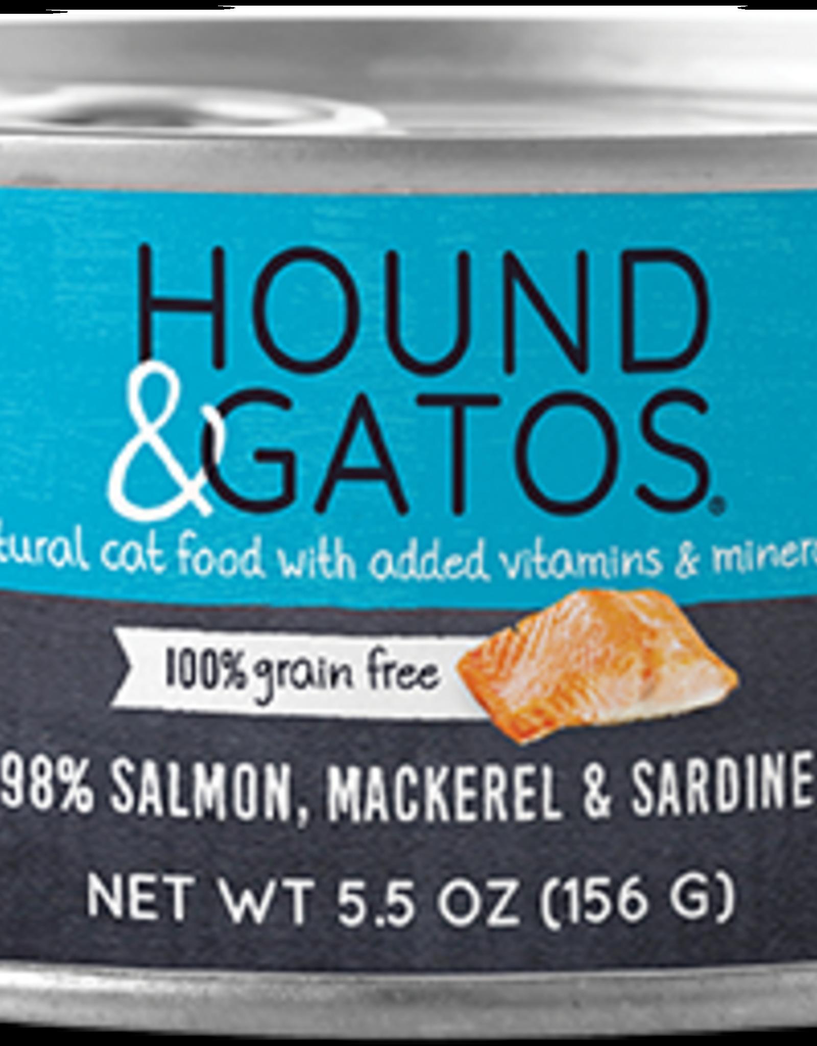 Hound & Gatos Hound & Gatos 98% Salmon, Mackerel & Sardine Recipe Cat