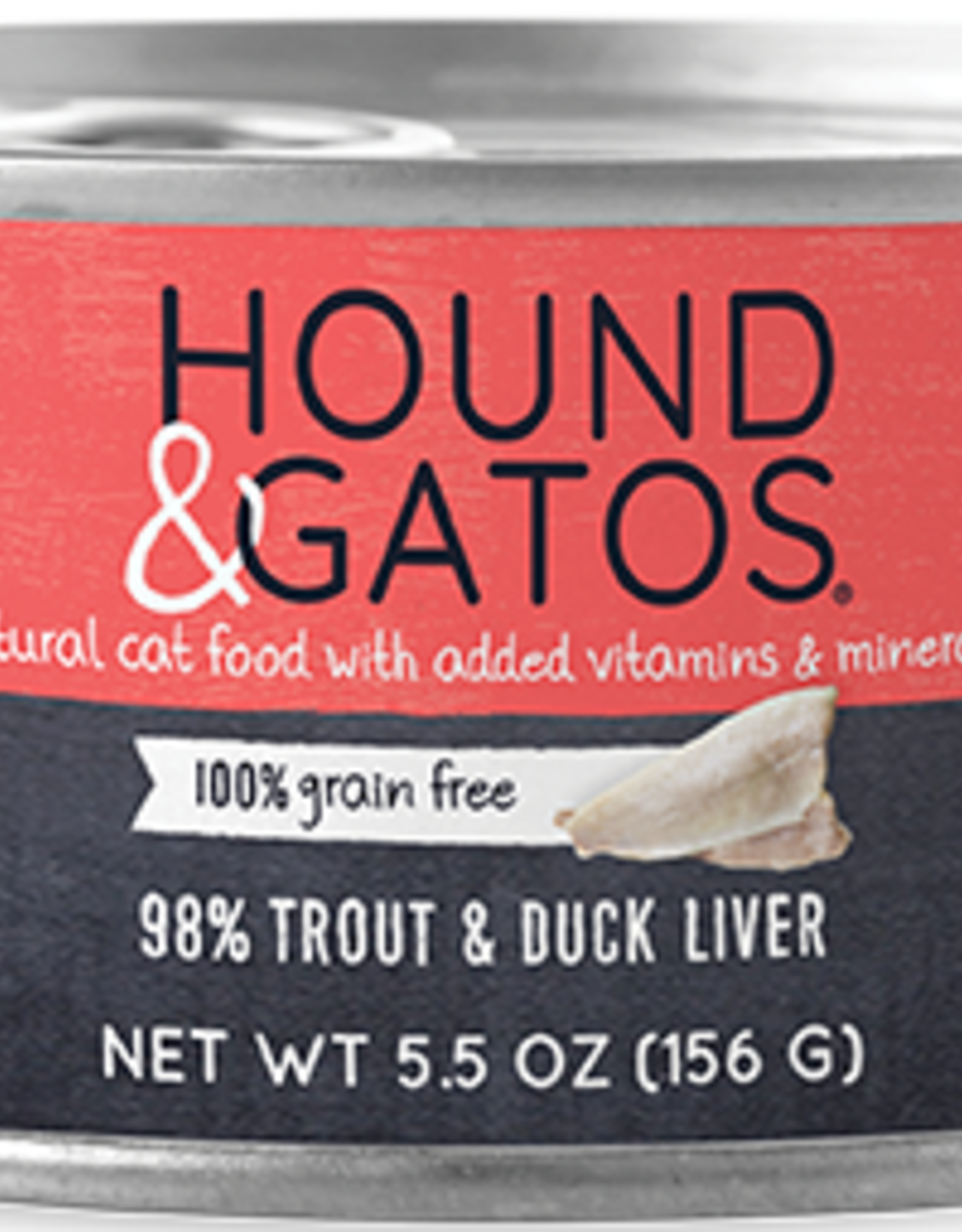 Hound & Gatos Hound & Gatos 98% Trout & Duck Liver Recipe Cat