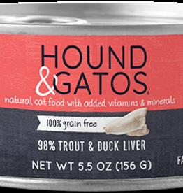 Hound & Gatos Hound & Gatos 98% Trout & Duck Liver Recipe Cat