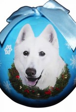 German Shepherd White Ornament
