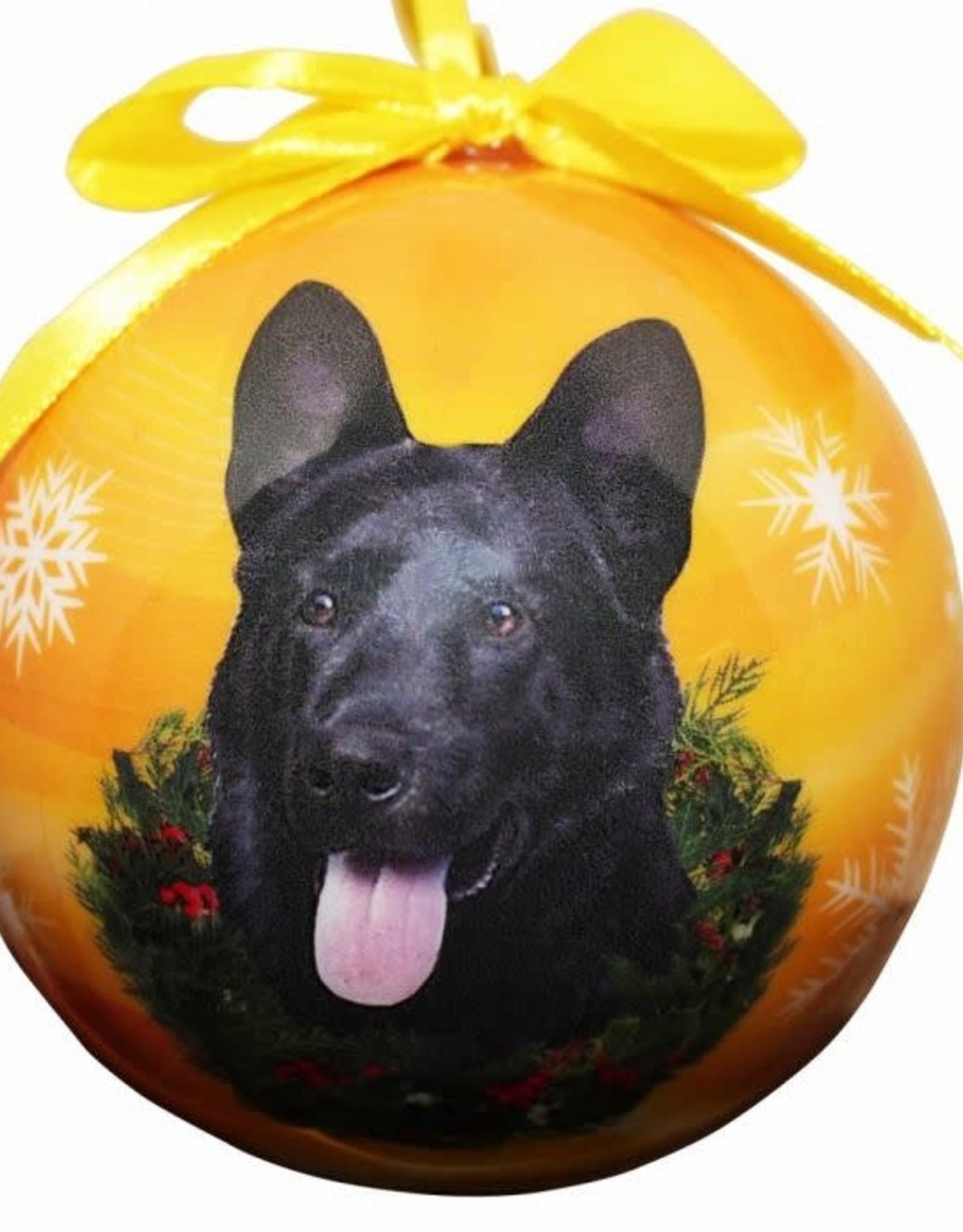German Shepherd Black Ornament