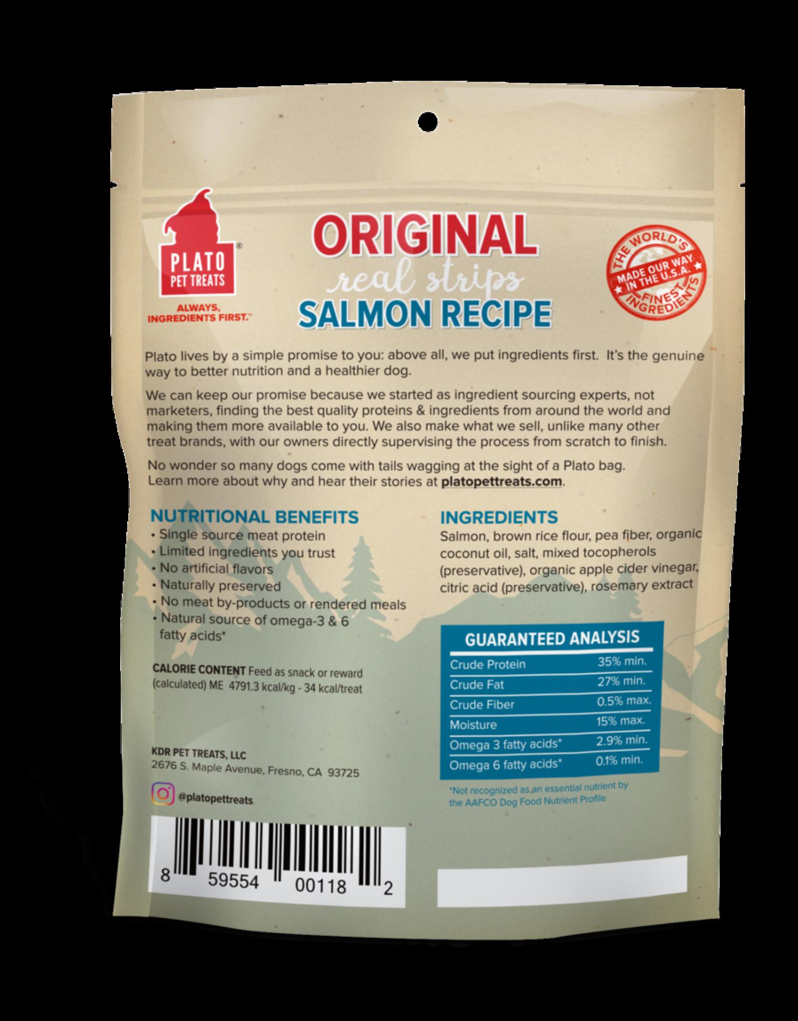 Plato Pet Treats Plato Natural Salmon Strips