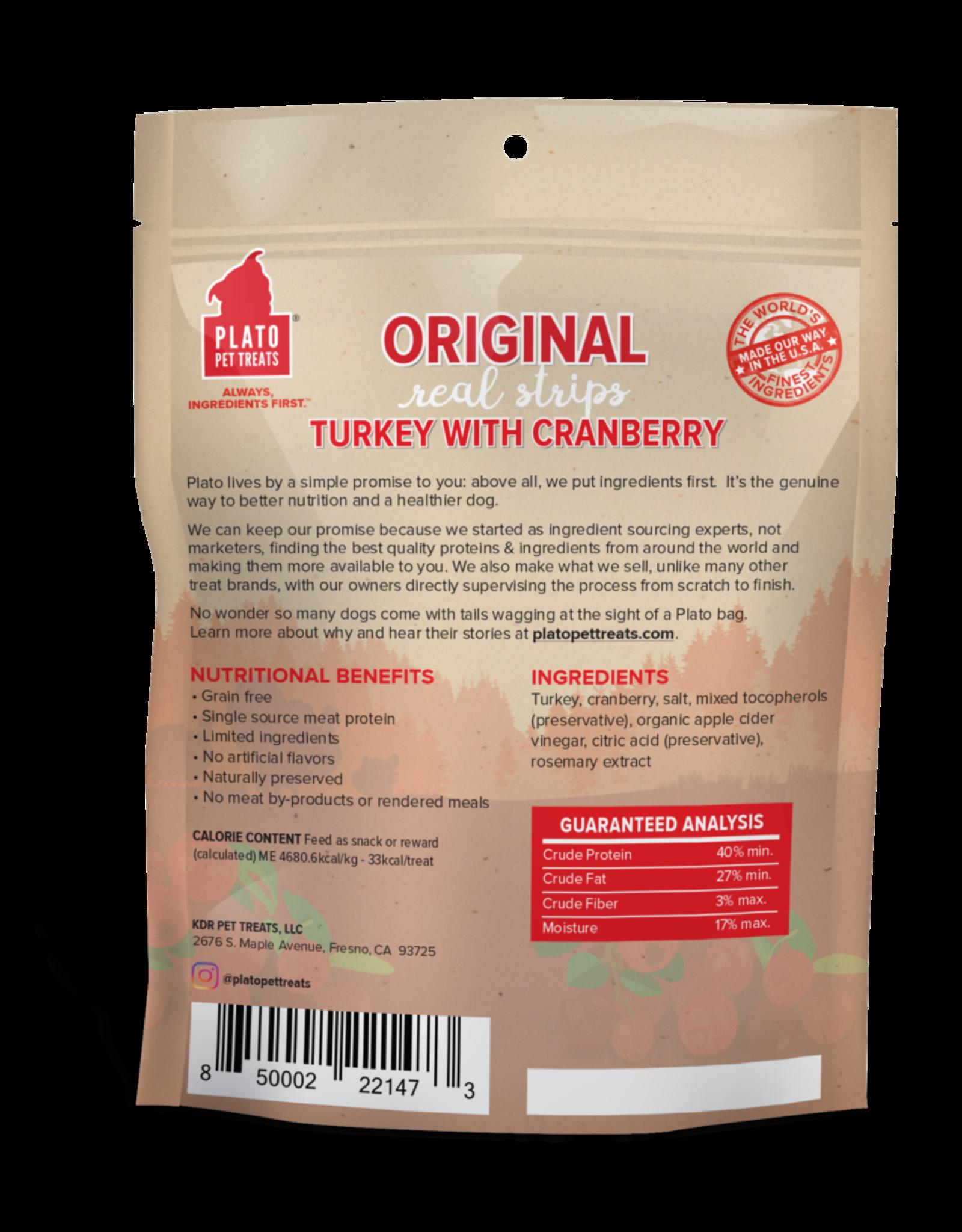 Plato Pet Treats Plato Turkey with Cranberry Strips