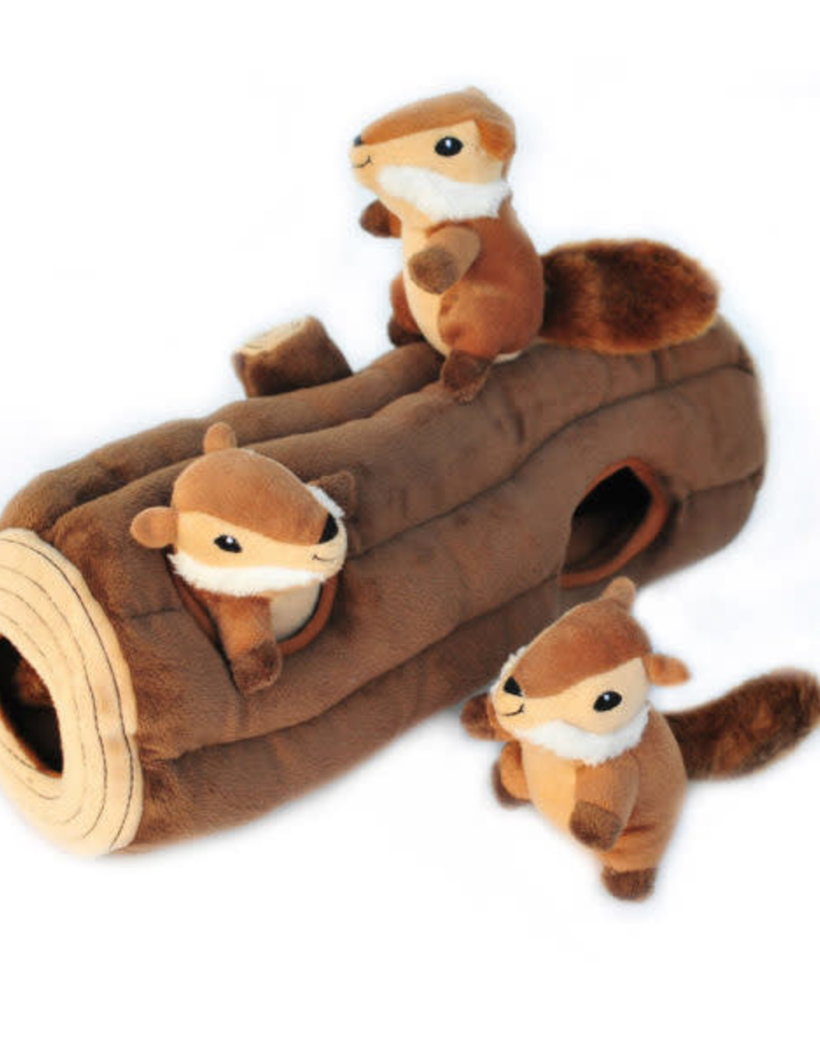 ZippyPaws ZippyPaws Burrow Large - Log with Chipmunks