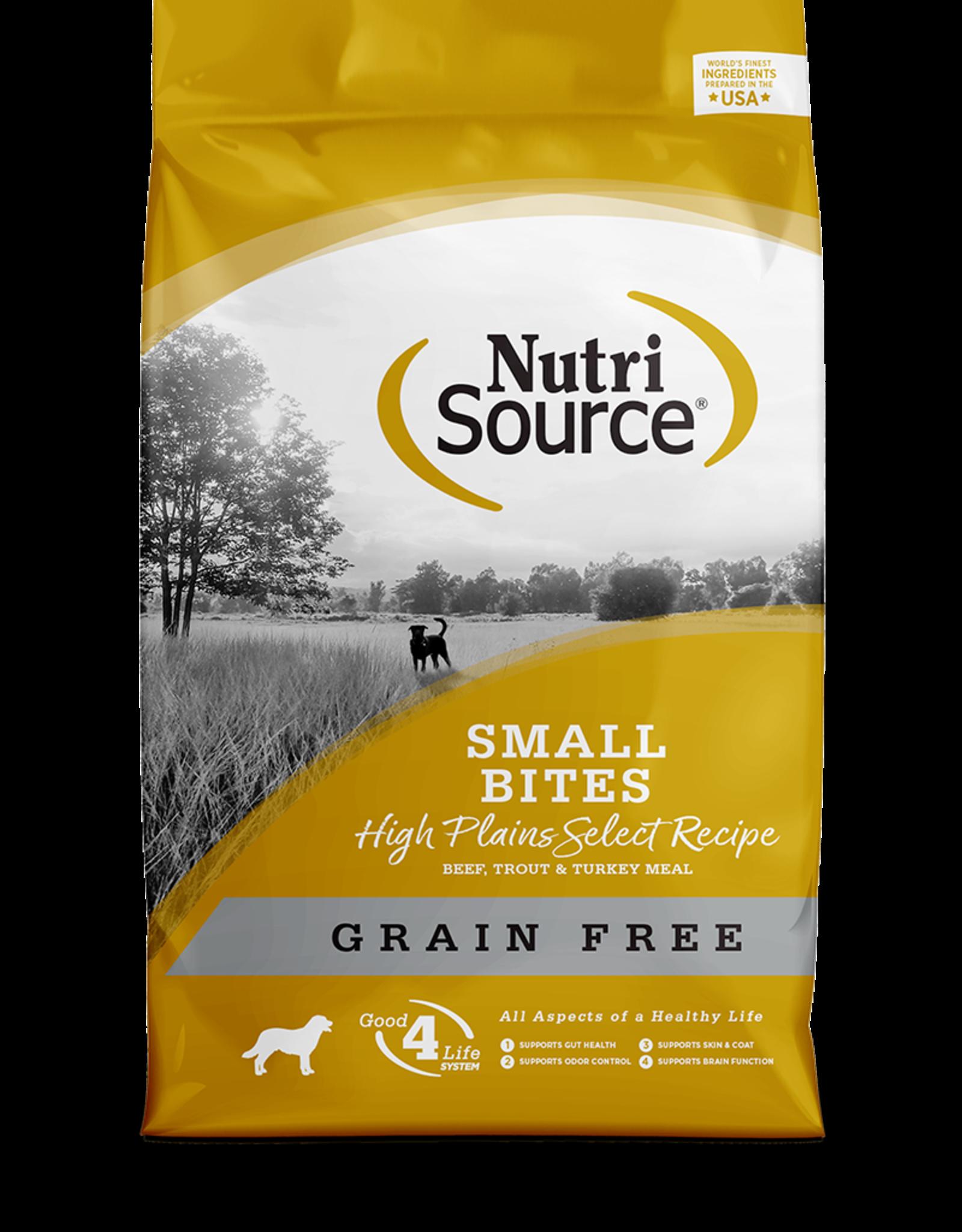 NutriSource NutriSource Small Bites High Plains Select Formula Dog