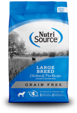 NutriSource Nutrisource Grain Free Large Breed Chicken & Pea Formula 30lb