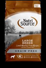 NutriSource Nutrisource Grain Free Large Breed Lamb Meal & Peas Recipe 30lb