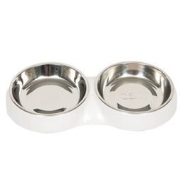 Hagen Catit Food Dish Double - White