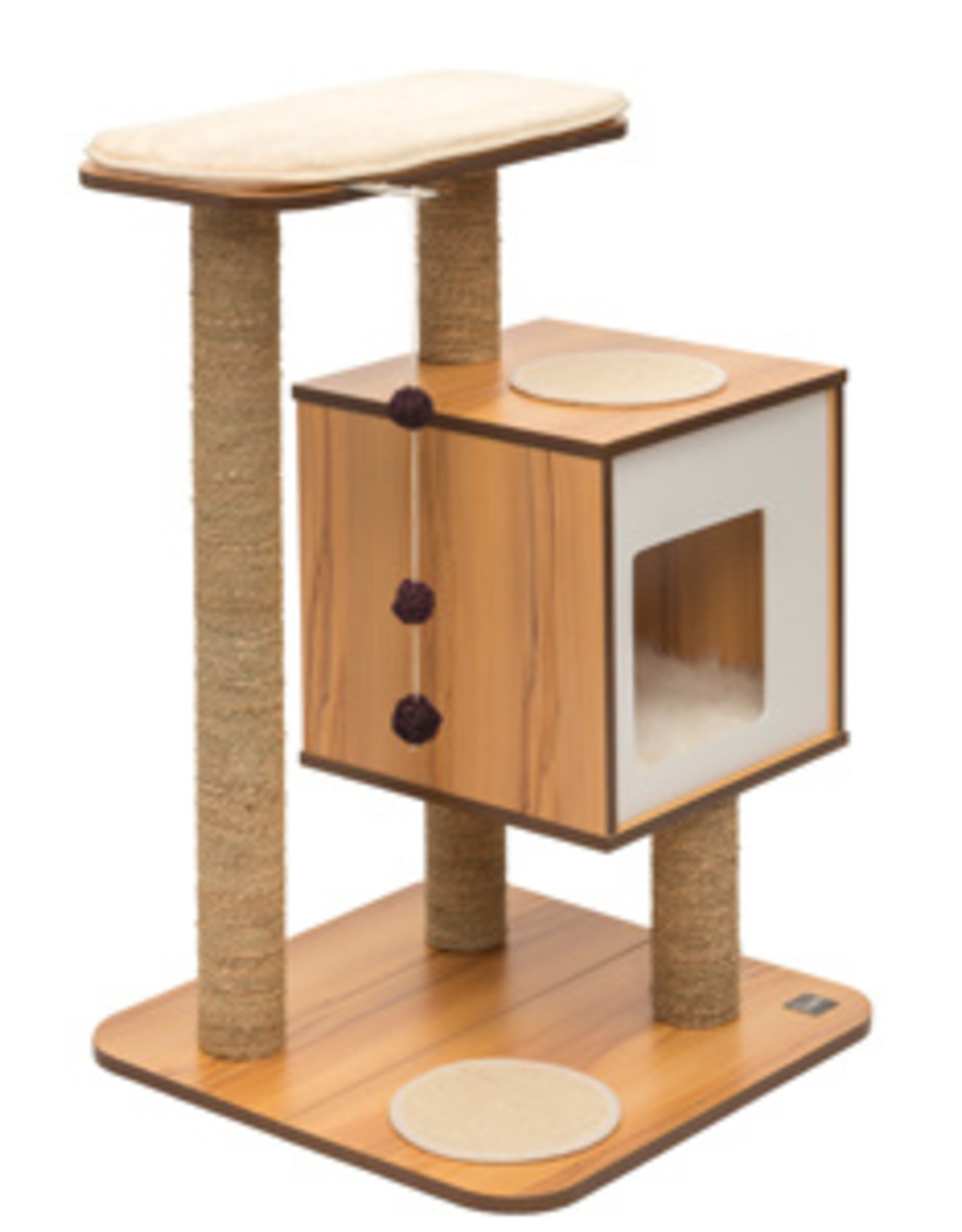 Hagen Vesper Cat Furniture V-Base Walnut Tree