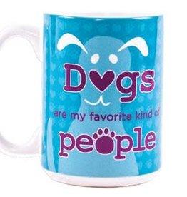 Dog Speak Dog Speak Big Coffee Mug 15oz - Dogs are my Favorite Kind of People