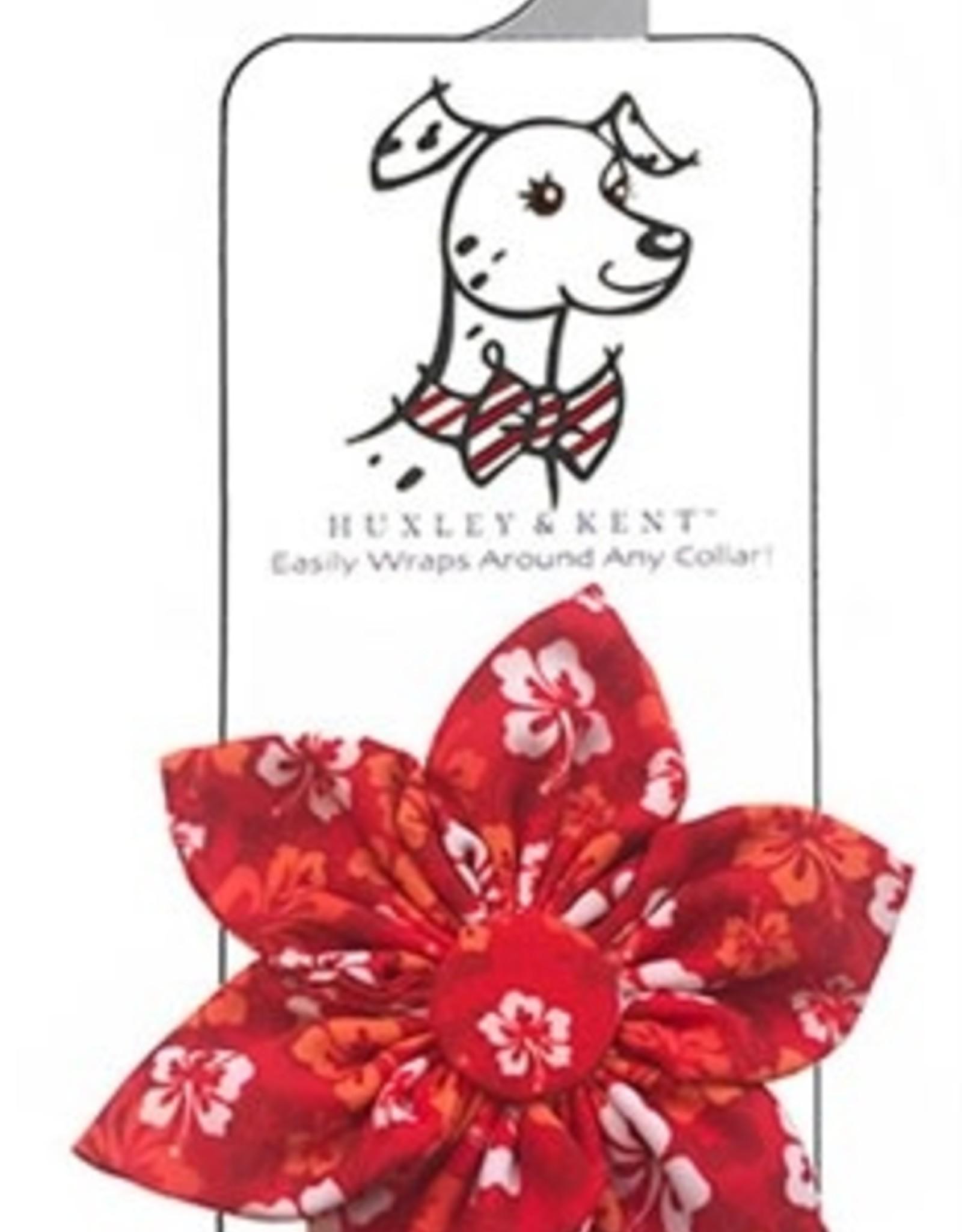 Red Hibiscus Pinwheel Collar Attachment