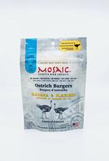 Mosaic Mosaic Ostrich Burgers Banana & Flaxseed