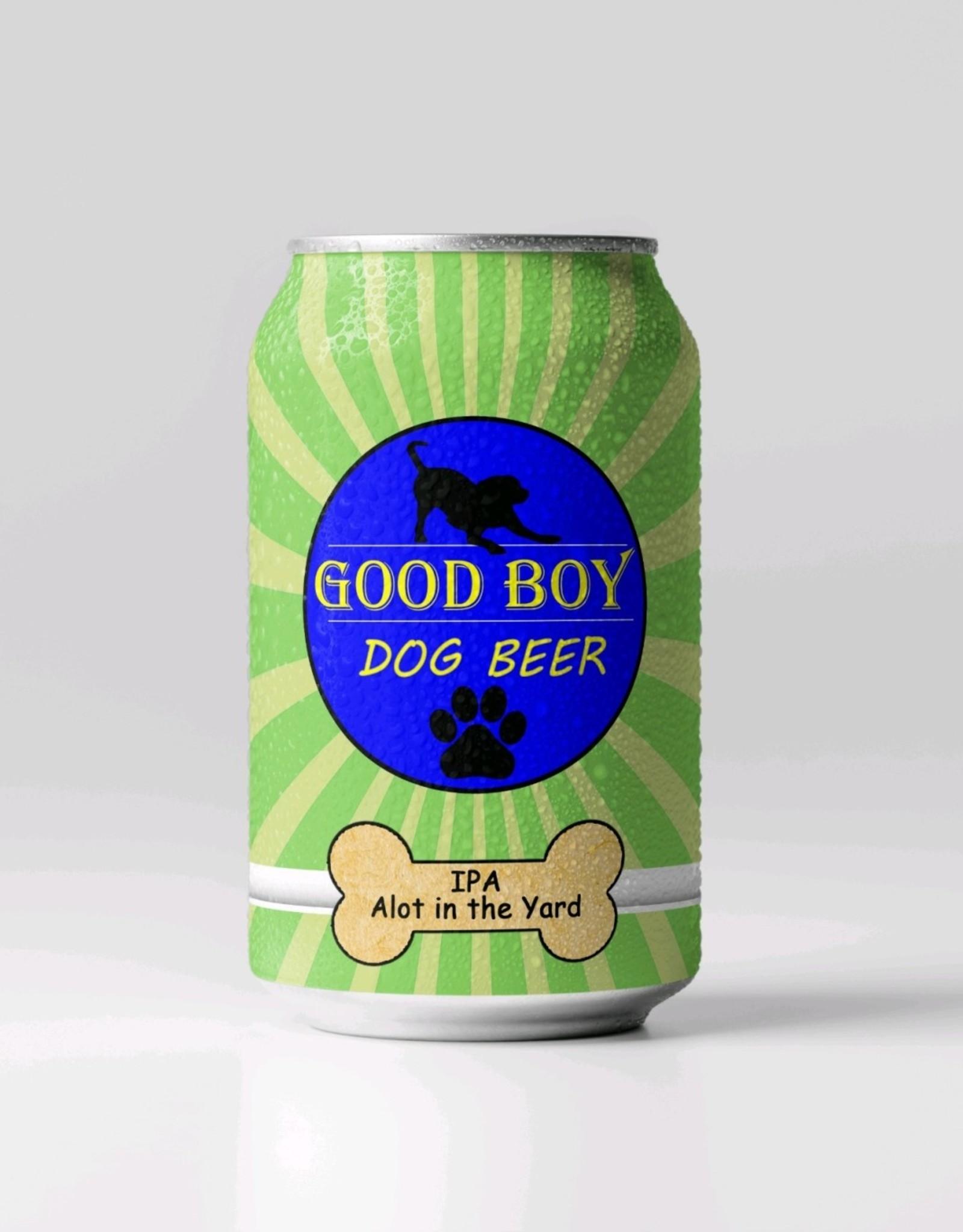 Good Boy Dog Beer Good Boy Dog Beer - IPA lot in the yard
