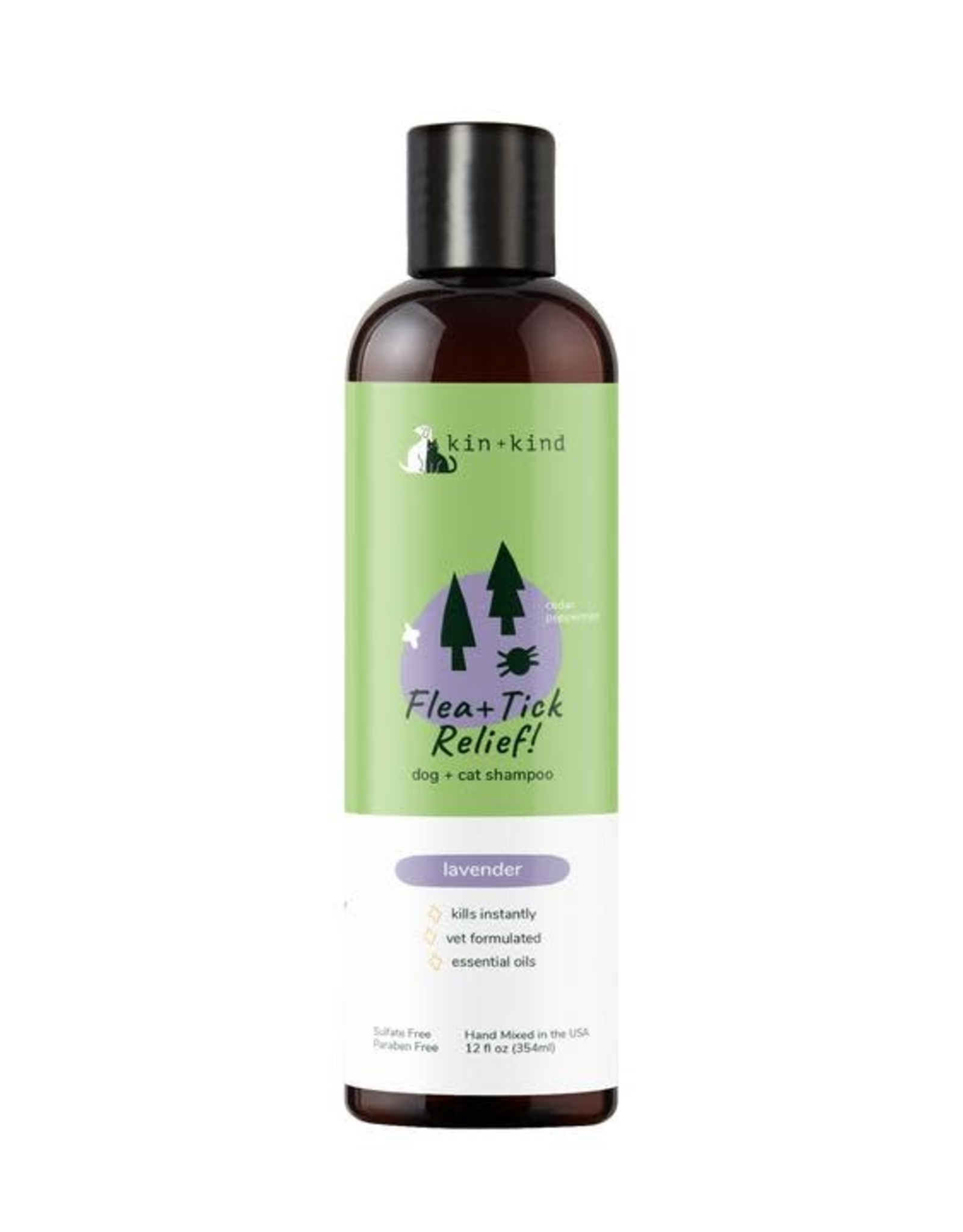 Kin+Kind Kin+Kind Flea & Tick Shampoo (Dog & Cat) Lavender 12oz
