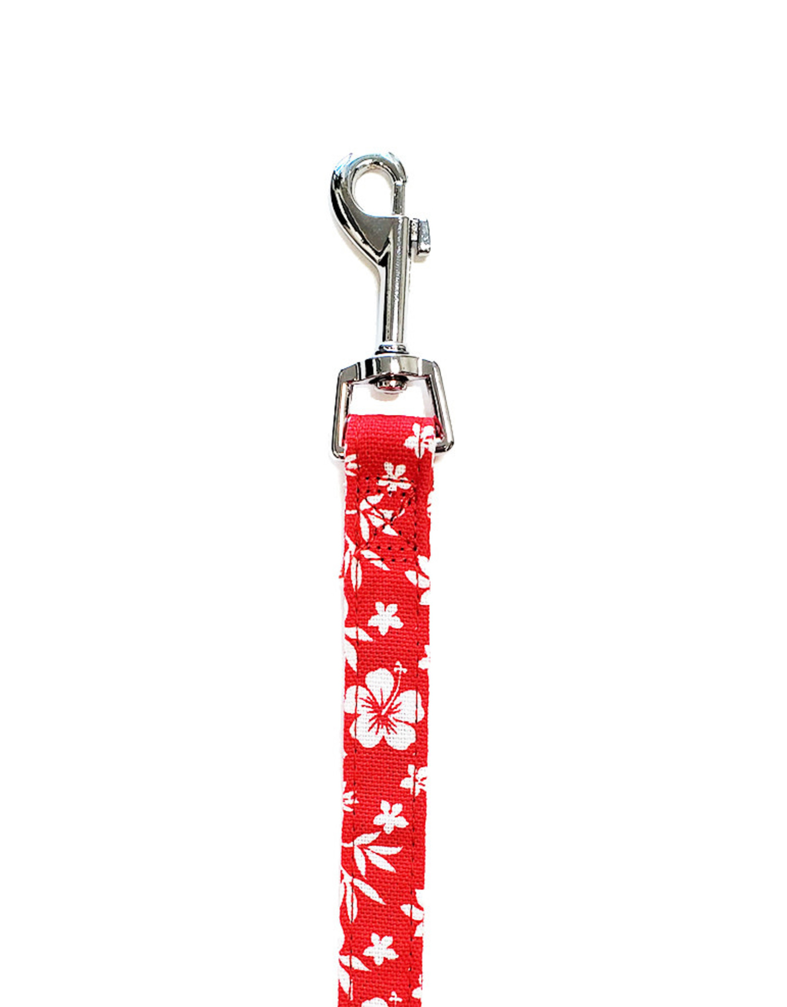 """Bark Appeal Red Hibiscus Leash 3/4"""""""
