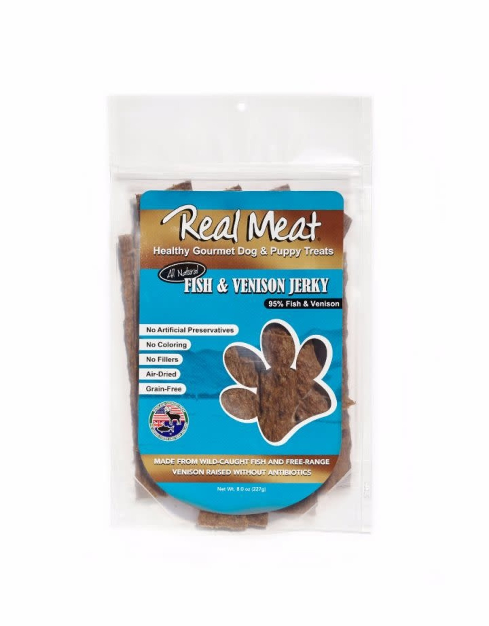 The Real Meat Company Real Meat Fish Venison Jerky Strip 8oz