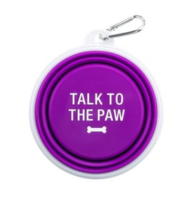 Travel Bowl - Talk to the Paw