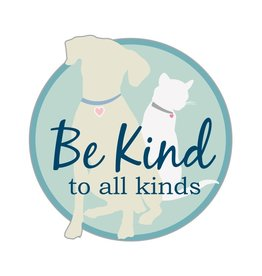 """Dog Speak 3"""" Decal Be Kind To All Kinds"""