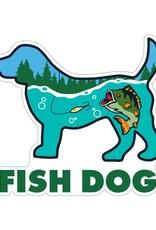 "Dog Speak 3"" Decal Fish Dog"
