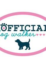 """Dog Speak 3"""" Decal Official Dog Walker"""