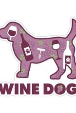 """Dog Speak 3"""" Decal Wine Dog"""