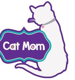 """Dog Speak 3"""" Decal Cat Mom"""