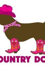 "Dog Speak 3"" Decal Country Dog"