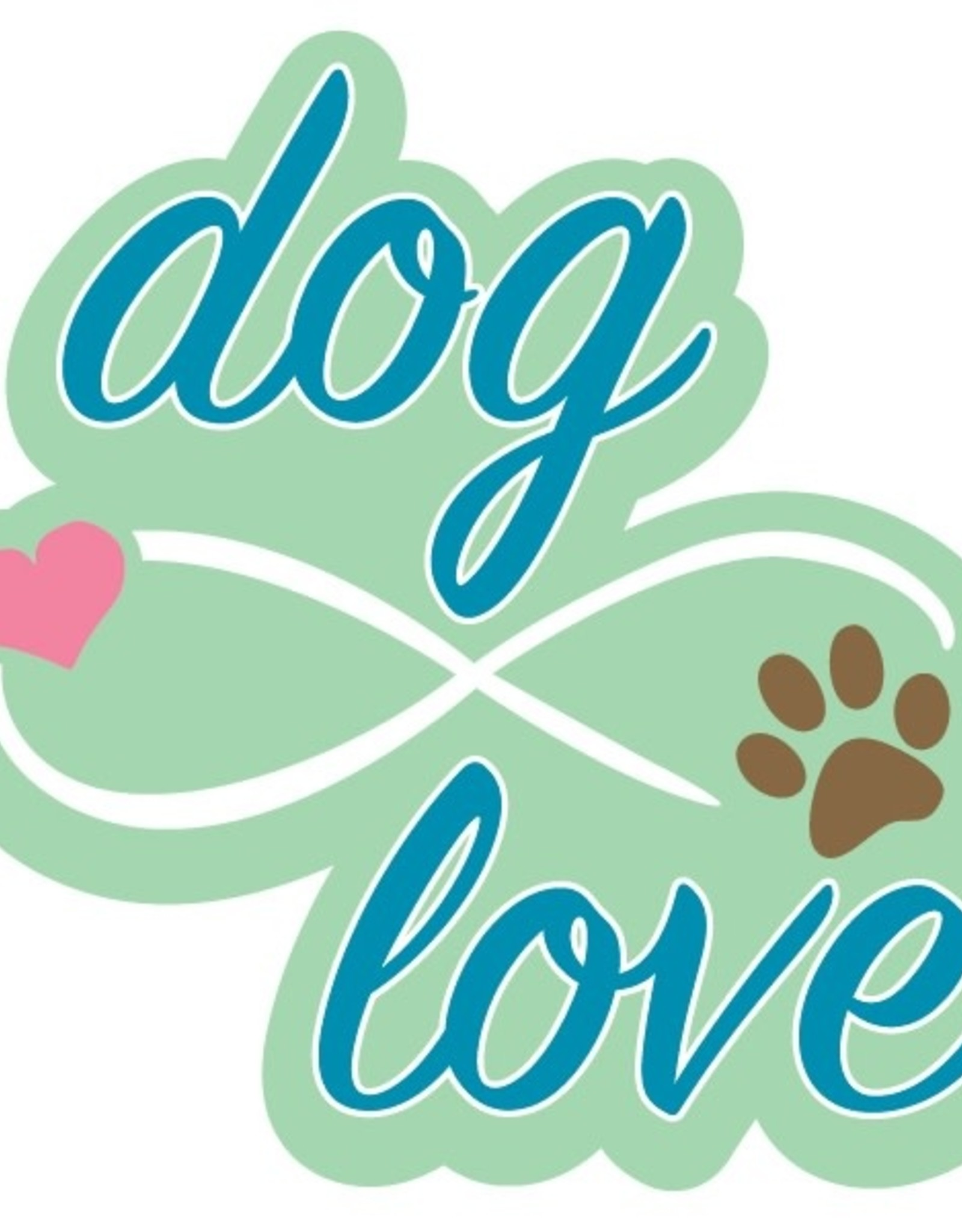 "Dog Speak 3"" Decal Dog Love (w/Infinity Symbol)"