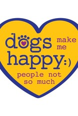 "Dog Speak 3"" Decal Dogs Make Me Happy"