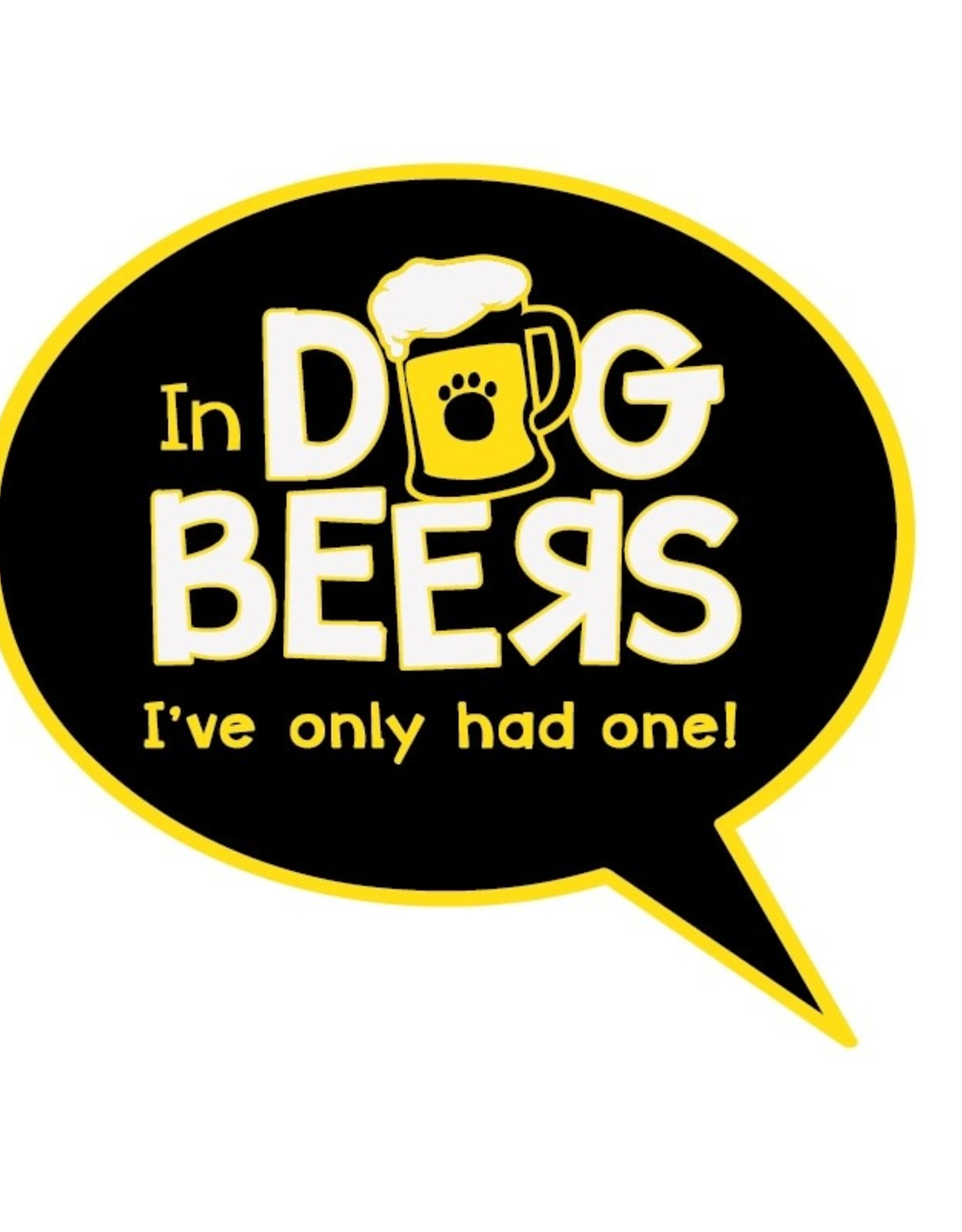 """Dog Speak 3"""" Decal In Dog Beers"""